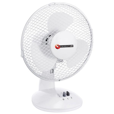 5 Star Desk Fan Oscillating Silent Non-tilt 2-Speed Cable 2m Dia.229mm