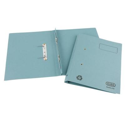 Elba Spirosort Transfer Spring File Recycled 310gsm 35mm Foolscap Blue Ref 100090159 [Pack 25]