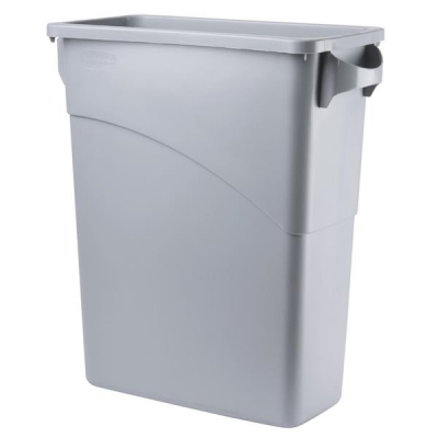 Rubbermaid Slim Jim Recycling Container Bin W279xH762mm 60 Litres Grey Ref 3541-00-GRY
