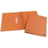Elba Spirosort Transfer Spring File Recycled 310gsm 35mm Foolscap Orange Ref 100090161 [Pack 25]