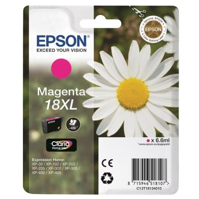 Epson 18XL Inkjet Cartridge Daisy High Capacity 6.6ml Magenta Ref C13T18134010