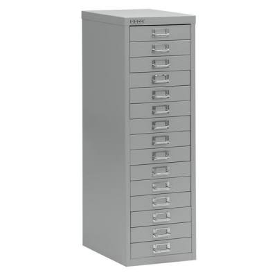 Bisley SoHo Multidrawer Cabinet 15-Drawer H860mm Grey Ref 101229