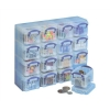Really Useful Organiser Set Polypropylene 16x0.14L Boxes and Tray W224xD280xH65mm Clear Ref 0.14x16CORG
