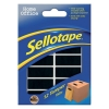 Sellotape Tamper Tabs Adhesive Mail Security Size 20x40mm [Pack 12]