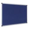 Bi-Office Notice Board Fire Retardant Fabric Alumimium Frame W900xH600mm Blue Ref SA0301170