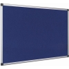 Earth-It Recycled Blue Felt Notice Board with Aluminium Frame W1200XH900mm Ref FA0543790