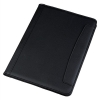Conference Folder Folio Leather Look Writing Case A4 Black
