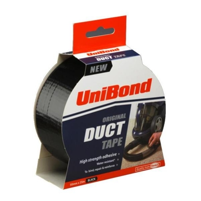UniBond Duct Tape 50mmx25m Black Ref 1517009
