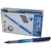 Uni-ball UB-185S Eye Needle Pen Stainless Steel Point Micro 0.5mm Tip Blue Ref 153528383 [Pack 14 for 12]