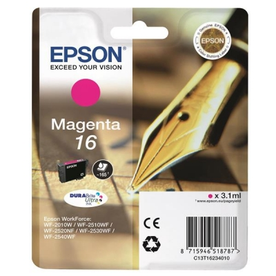 Epson 16 Inkjet Cartridge Pen & Crossword Page Life 165pp Magenta Ref T16234010