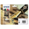 Epson 16 Inkjet Cartridge Pen & Crossword Multipack Black/Cyan/Magenta/Yellow Ref T16264010 [Pack 4]