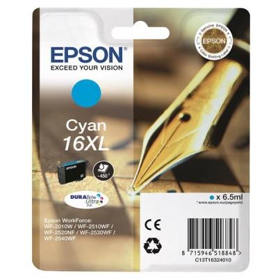 Epson 16XL Inkjet Cartridge Pen & Crossword Page Life 450pp Cyan Ref T16324010
