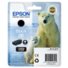 Epson T2601 26 Inkjet Cartridge Polar Bear Capacity 6.2ml Black Ref C13T26014010