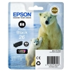 Epson T2611 26 Inkjet Cartridge Polar Bear Capacity 4.7ml Photo Black Ref C13T26114010