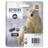 Epson T2611 26 Inkjet Cartridge Polar Bear Capacity 4.7ml Photo Black Ref C13T26114010