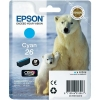 Epson T2612 26 Inkjet Cartridge Polar Bear Capacity 4.5ml Cyan Ref C13T26124010