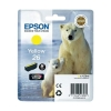 Epson 26 Inkjet Cartridge Polar Bear Capacity 4.5ml Yellow Ref C13T26144010