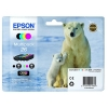 Epson 26 Inkjet Cartridge Capacity 19.7ml Black/Cyan/Magenta/Yellow Ref C13T26164010 [Pack 4]
