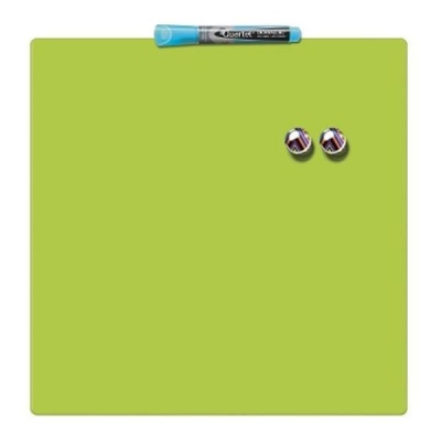Rexel Magnetic Drywipe Board Square Tile 360x360mm Lime Green Ref 1903773