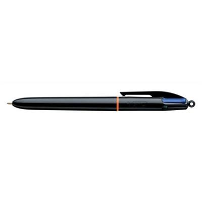 Bic 4-Colour Pro Ball Pen 1.0mm Tip 0.7mm Line Blue Black Red Green Ref 902129 [Pack 12]