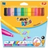 Bic Kids Visa XL Felt Tip Pens Washable Broad Tip Assorted Ref 829007 [Pack 12]