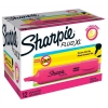 Sharpie Fluo XL Highlighter Chisel Tip 3 Widths Pink Ref 1825635 [Pack 12]