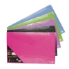SSeco Oxo-biodegradable Polypropylene Wallet A4 Landscape Assorted Ref PPLSA4-AST [Pack 5]