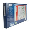 Elba Vision Ring Binder PVC Clear Front Pocket 4 O-Ring A3 Landscape Blue Ref 100082460 [Pack 2]