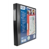 Elba Vision Ring Binder PVC Clear Front Pocket 4 O-Ring A3 Portrait Black Ref 400009729 [Pack 2]