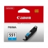 Canon CLI-551C Inkjet Cartridge Page Life 304pp Cyan Ref 6509B001