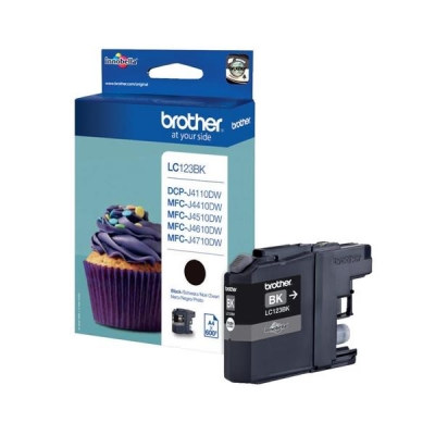 Brother Inkjet Cartridge Page Life 600pp Black Ref LC123BK