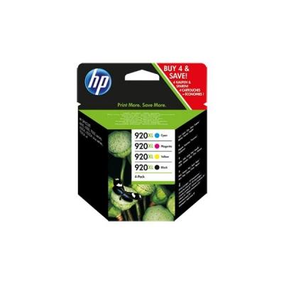 Hewlett Packard [HP] No. 920XL Inkjet Cartridge Colour Ref C2N92AE [Pack 4]