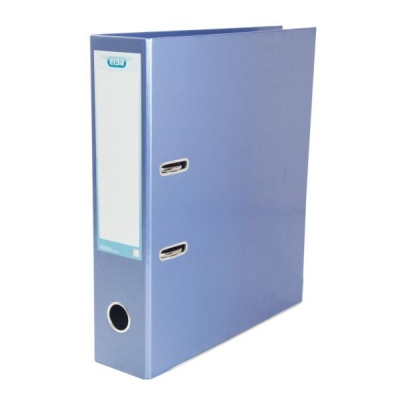 Elba Lever Arch File Laminated Gloss Finish 70mm Capacity A4 Metallic Blue Ref 400021023