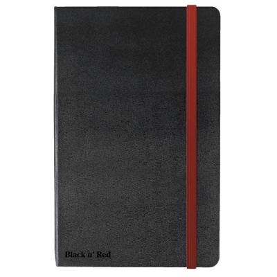 Black By Black n Red Casebound Notebook 90gsm Ruled and Numbered 144pp A6 Ref 400033672