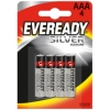 Eveready Silver Alkaline Battery AAA PK4 Ref 637330 [Pack 4]