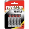 Eveready Silver Alkaline Battery AA Ref 637329 [Pack 4]