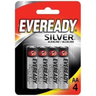 Eveready Silver Alkaline Battery AA Ref 637329 [Pack 4]