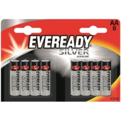 Eveready Silver Alkaline Battery AA PK8 Ref 637619 [Pack 8]