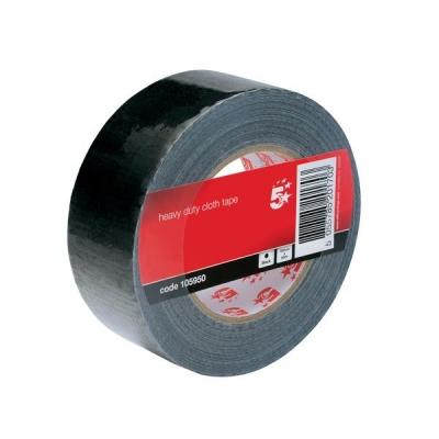 5 Star Cloth Tape Roll 50mmx50m Black