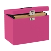 Pierre Henry File Box For Suspension Files Metal A4 Red Ref 40986