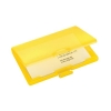 Sigel Coolori Business Card Case Plastic with Clip Fastener 71x101x13mm Yellow