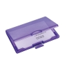 Sigel Coolori Business Card Case Plastic with Clip Fastener 71x101x13mm Violet