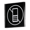Pictogram Acrylic Sign No Mobiles 85x85x8mm Ref PA310