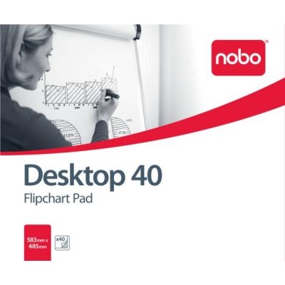 Nobo Barracuda Desktop Flipchart Pad 70gsm 40 Sheets B1 583x485mm Ref 34631170