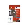Avery Name Badge Self Adhesive 10 per Sheet 50x80mm White Ref J4785-20 [200 Labels]
