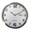 Wall Clock White With Date Grey Edge Ref 2120H