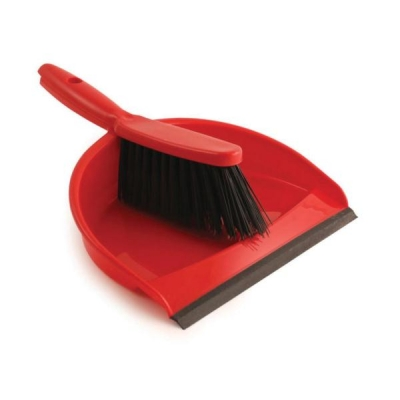 Dustpan and Brush Set Soft Bristle Red Ref SPC/VZ.8011/R