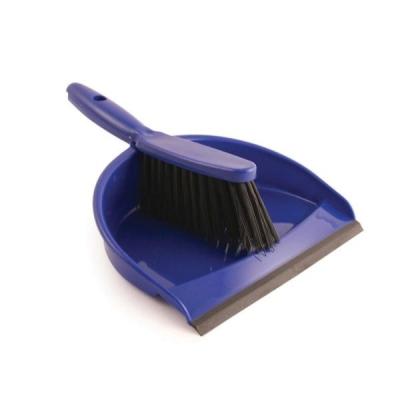 Dustpan and Brush Set Soft Bristle Blue Ref SPC/VZ.8011/B