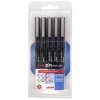 Uni Pin Pens Assorted Black Ref 153486623 [Pack 5]