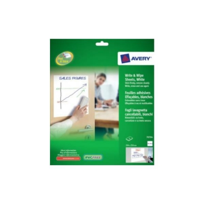 Avery Write and Wipe Square Format A4 Sheets Ref 70704 [4 Sheets]